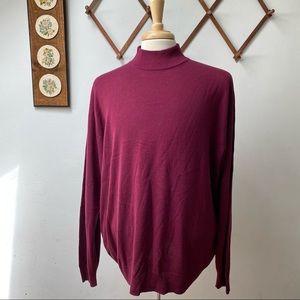 Jos A Bank 100% Silk Mock Neck Sweater
